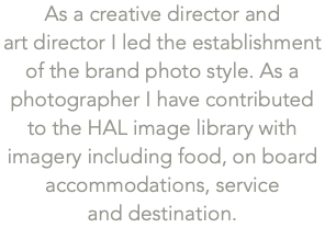 As a creative director and 